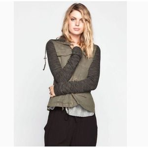 OTHERS FOLLOW Olive Green Field Utility Jacket